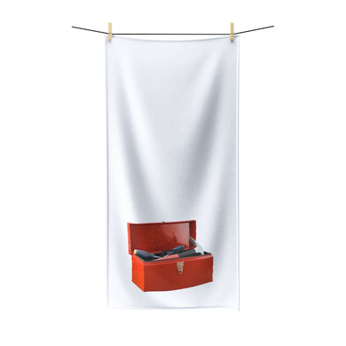 Red Toolbox Poly cotton Towel