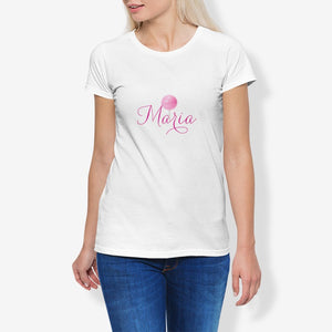 Maria Women's Cotton Stretch CrewNeck T-Shirt