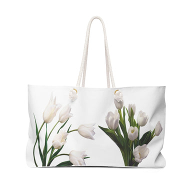 White Holland Tulips Weekender Tote Bag
