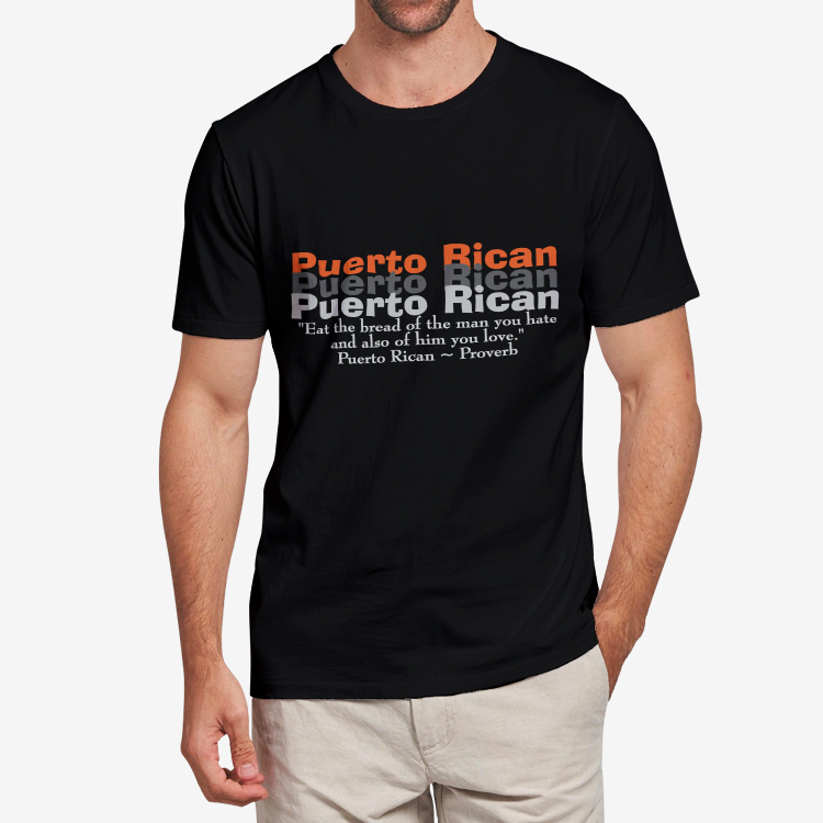 Puerto Rican ~ ProverbMen's Heavy Cotton Adult T-Shirt