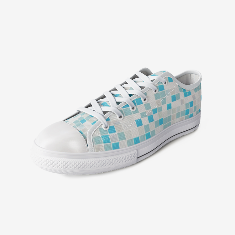 Art Mosaic Tiles Comfortable  Low Top Canvas Shoes