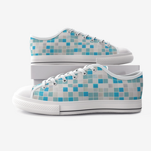 Load image into Gallery viewer, Art Mosaic Tiles Comfortable  Low Top Canvas Shoes