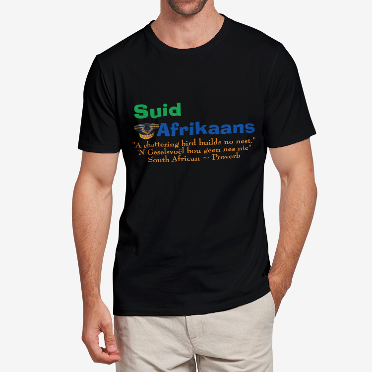 Suid Afrikaans-American Proverb Heavy Cotton Adult T-Shirt
