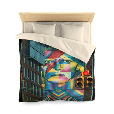 Tribute to Bowie Microfiber Duvet Cover