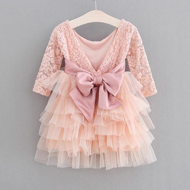 Girls Dress New Lace Tulle Cake Girls