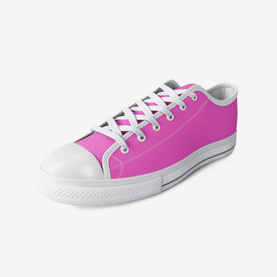 Hot Pink Kids Urban Low Top Canvas Shoes