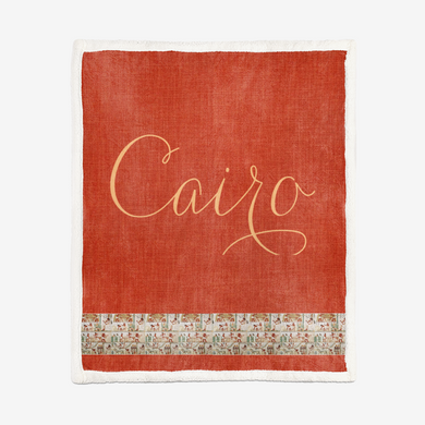 Cairo Egyptian Double-Sided Super Soft Plush Blanket