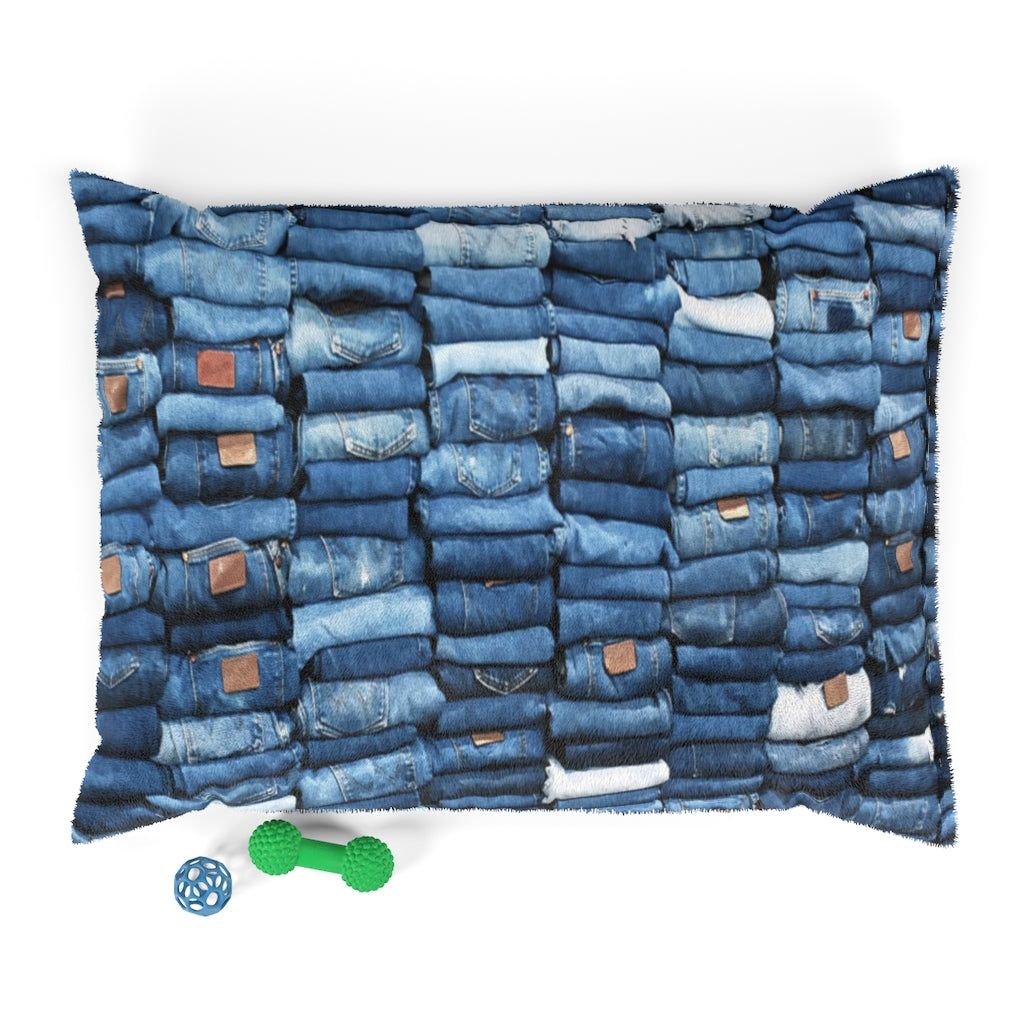Puerto Padre Denim Paw & Meow Bed