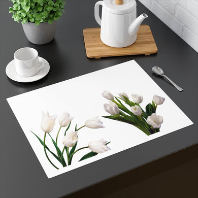 Floral White Tulips Placemat