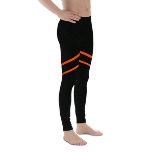 Black Orange Leotard for rhythmic gymnastics