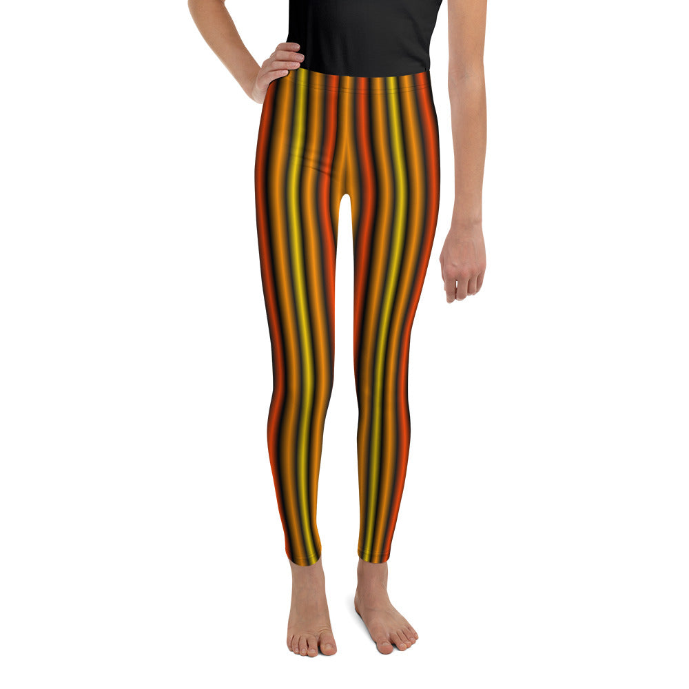 Orange green and black 82% polyester, 18% spandex • Smooth and comfortable microfiber yarn • Four-way stretch material stretches and recovers on the cross and lengthwise grains exercise leggings
