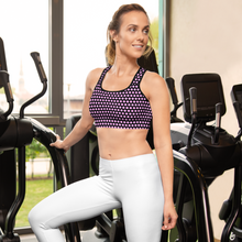 Load image into Gallery viewer, Pink Polka Dots Sports bra