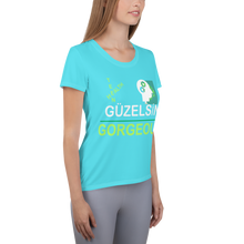 Load image into Gallery viewer, GÜZELSİN Gorgeous All-Over Print Women's Athletic T-shirt