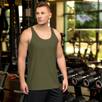 Army Green Unisex Tank Top