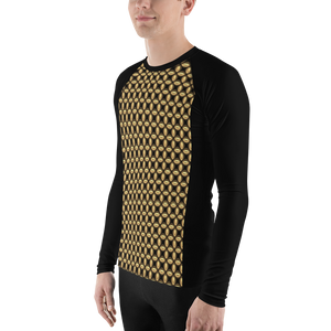 Jersey Shore Golden Global Men's Rash Guard