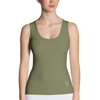 USAF Green Drab Sublimation Cut & Sew Tank Top