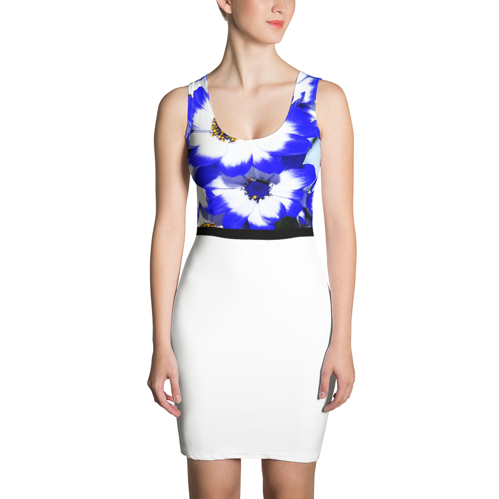 NEW COUTURE BODY FITTED FLORAL DAISY DRESS CANADA, EUROPE