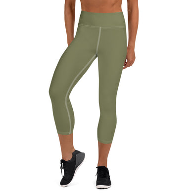 USAF GREEN Yoga Capri Leggings
