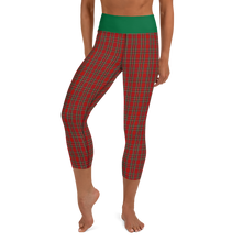 Load image into Gallery viewer, LAMBING Tartan Yoga Capri Leggings