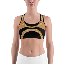 Load image into Gallery viewer, Black and beige 82% polyester, 18% spandex