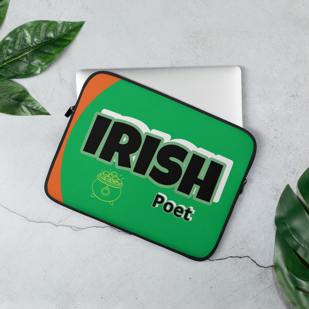Irish Poet Dell Chromebook / Apple Mac Laptop Sleeve