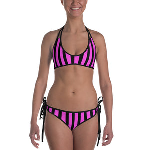 Hot Pink Pin Stripe Bikini