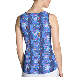 Hoboken Tribute to Bowie Sublimation Cut & Sew Tank Top