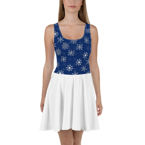 Snowflakes Ice Skater Dress