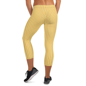 Honeycomb Capri Leggings