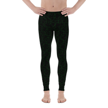 Load image into Gallery viewer, Electric Green Black  Acrobat  Leggings