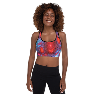 All Over Printed Active Sportswear Padded  Bra