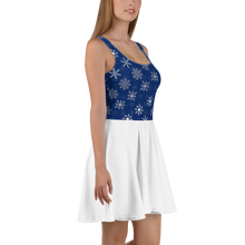 Load image into Gallery viewer, Snowflakes Ice Skater Dress