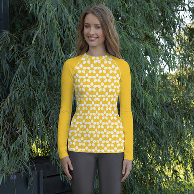 Yellow Daisy Women's Rash Guard