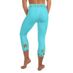 TurQ Star Ice Skaters  Capri Leggings