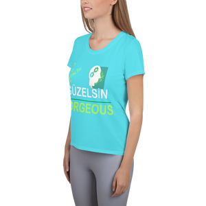GÜZELSİN Gorgeous All-Over Print Women's Athletic T-shirt