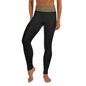 Jersey Shore Golden Global Yoga Leggings