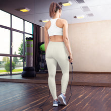 Load image into Gallery viewer, USAF Creme Yoga Leggings