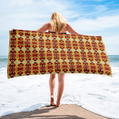 Taino Abstract Beach Towel