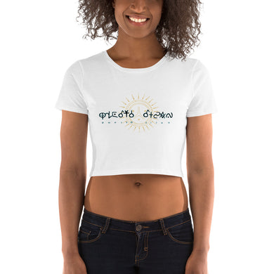 Lady Taino Women's Crop Tee