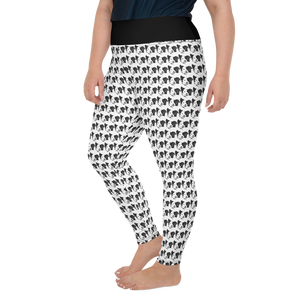 Black White Doggy print All-Over Print Plus Size Leggings