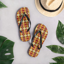 Load image into Gallery viewer, Abstract Taino Flip-Flops