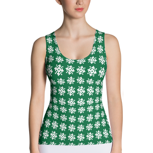 Green Snowflakes Tank Top