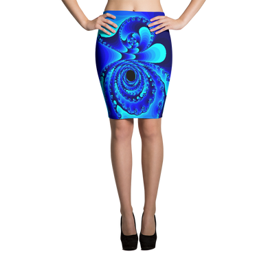 GEO 672 Blue October Pencil Skirt