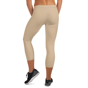 Beige Capri Leggings