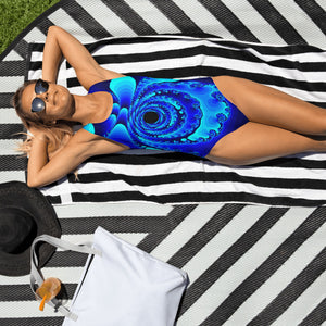 Electric Blue One-Piece Swimsuit
