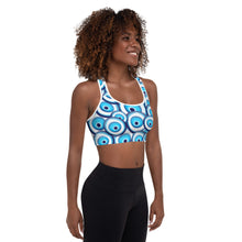 Load image into Gallery viewer, It 'Sounds Greek to me Padded Sports Bra
