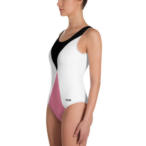 Pink Cut One-Piece Swimsuit