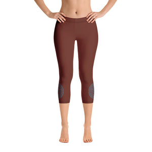 Brown Capri Leggings