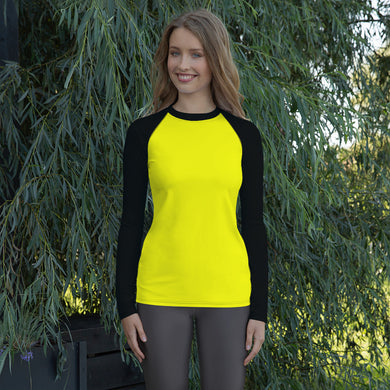 Yellow Women's Rash Guard