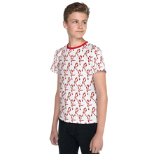 Load image into Gallery viewer, All over printed Christmas Youth T-Shirt